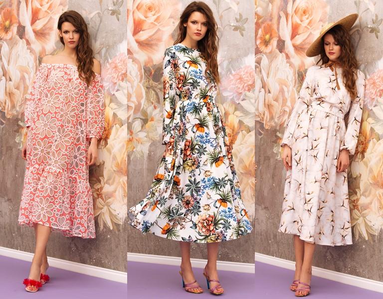 Круизная коллекция-2018 от Yulia Prokhorova Beloe Zoloto - платья с цветочным принтом