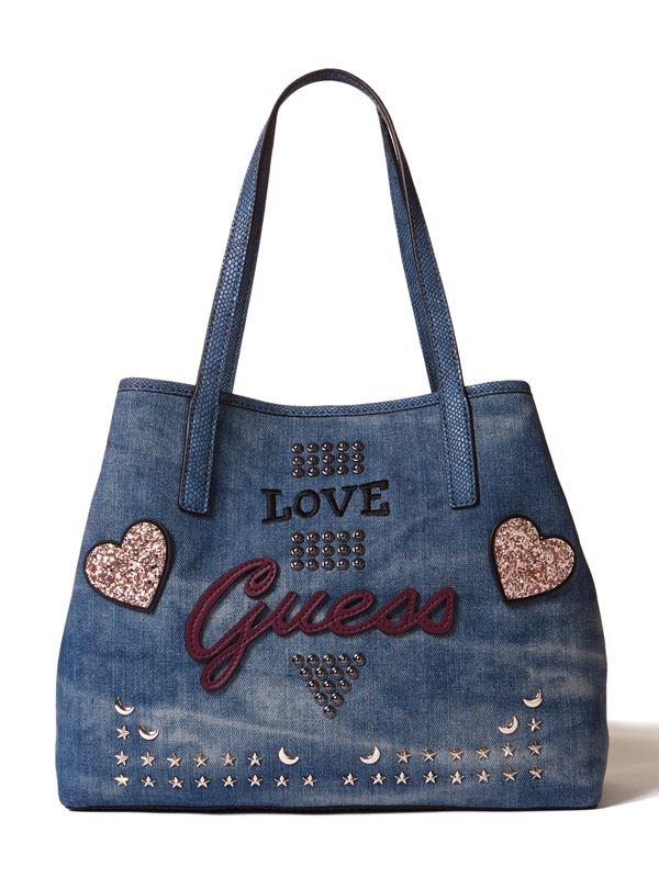 Новая сумка GUESS Vikky – джинсовая