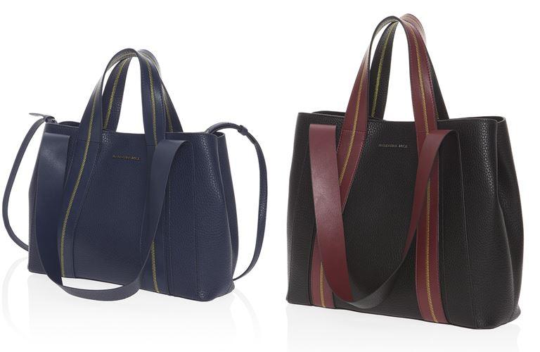 Коллекция сумок Mandarina Duck осень-зима 2018-2019 - сумки City - синяя и черная
