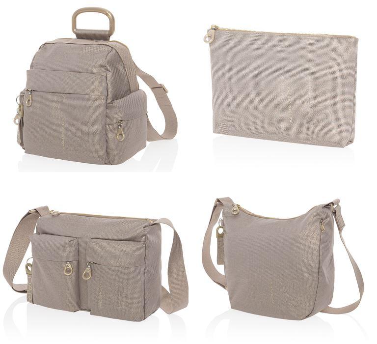 Коллекция сумок Mandarina Duck осень-зима 2018-2019 - MD20 Lux  - бежевые