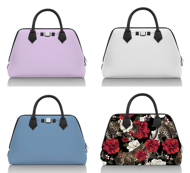 Save My Bag линия сумок Princess в коллекции Pre-Fall 2018 - сиреневая, серая, голубая и цветочная