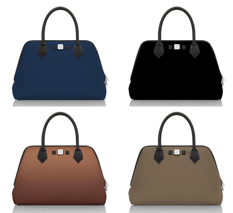 Save My Bag линия сумок Princess в коллекции Pre-Fall 2018 - синяя, черная, коричневая, хаки
