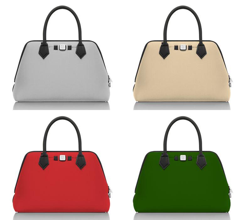 Save My Bag линия сумок Princess в коллекции Pre-Fall 2018 - серая и бежевая, красная и зеленая