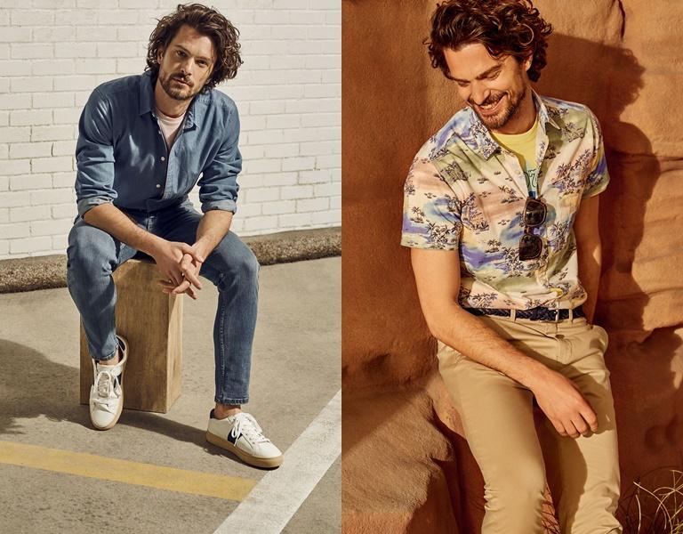 Летние мужские рубашки 2018 Springfield - летний стиль с джинсами и бежевыми брюками