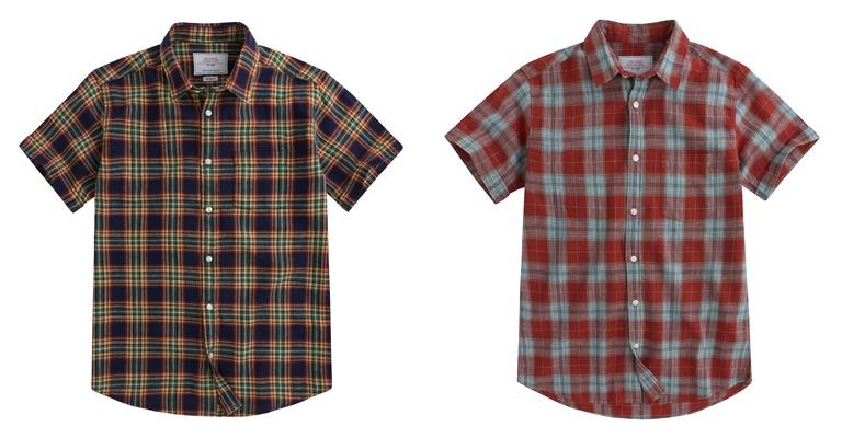 Летние мужские рубашки 2018 Springfield - клетчатые с коротким рукавом