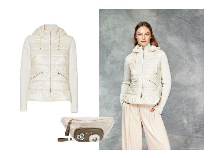 Верхняя одежда Liu Jo осень-зима 2018-2019 - короткий белый пуховик