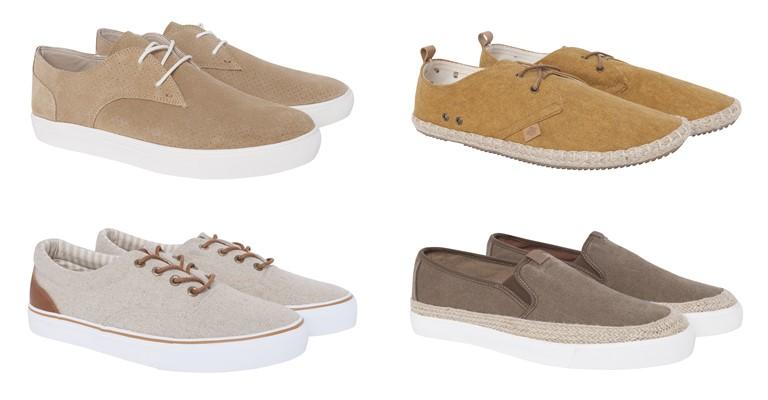 Мужские аксессуары Springfield лето-2018 - бежевые ботинки в стиле casual