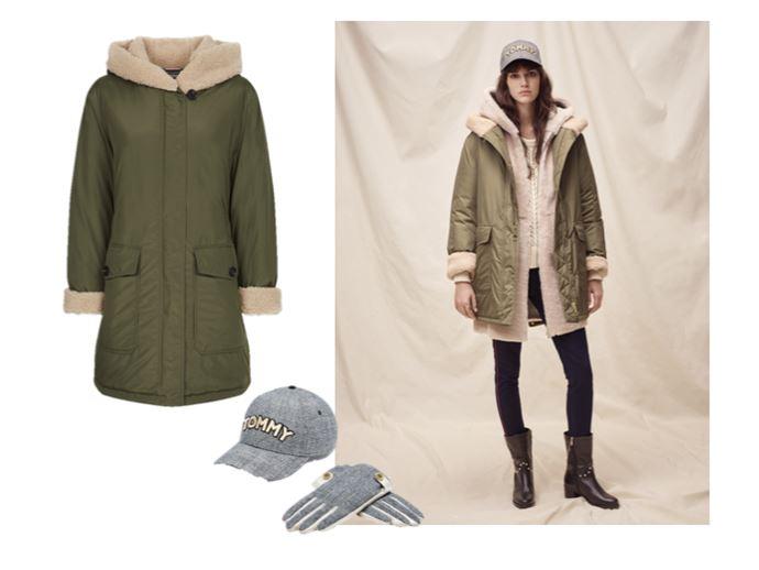 Верхняя одежда Tommy Hilfiger осень-зима 2018-2019 - куртка-парка оттенка хаки