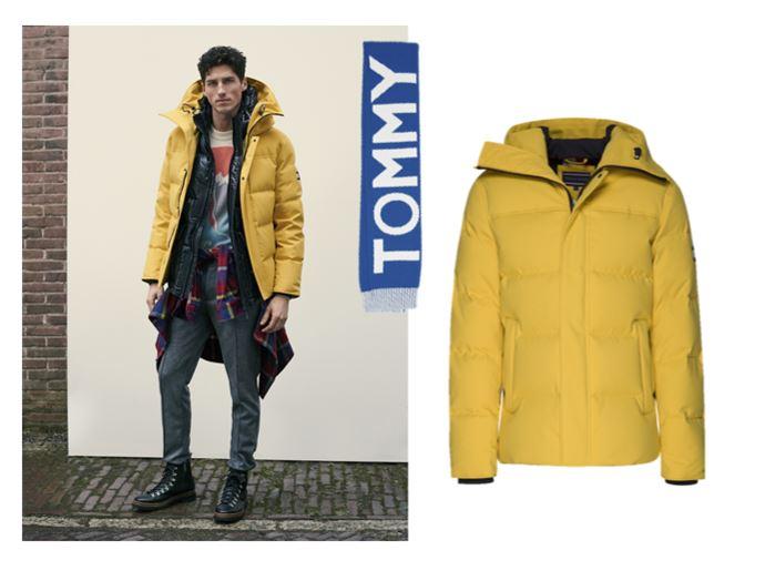 Верхняя одежда Tommy Hilfiger осень-зима 2018-2019 - мужская желтая куртка