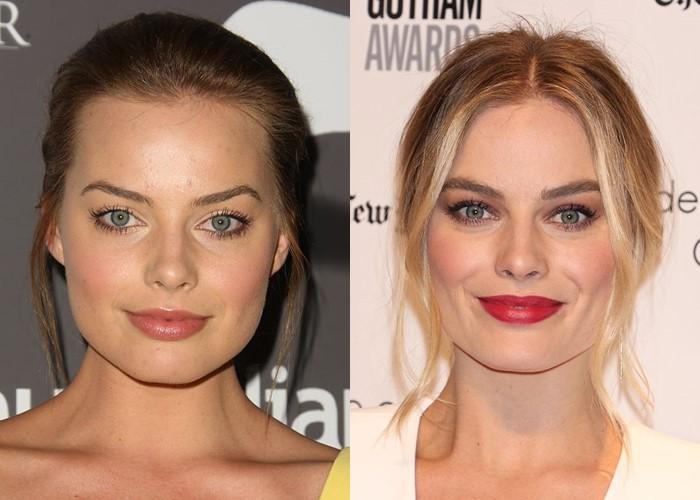 10 звёзд, демонстрирующих, как брови меняют лицо - Марго Робби