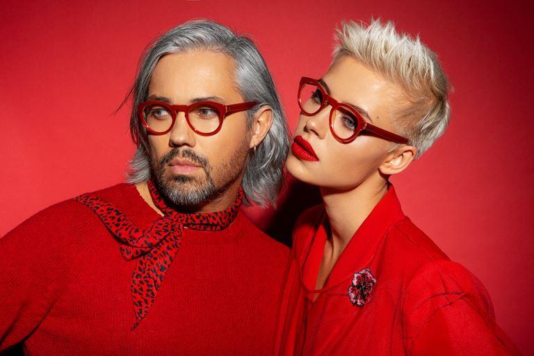 Коллекция очков ALEXANDR ROGOV х HarryCooper - красные мужские и женские