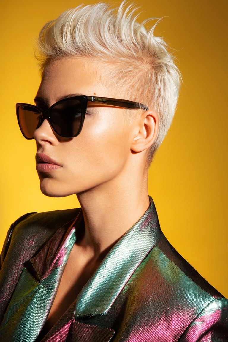 Коллекция очков ALEXANDR ROGOV х HarryCooper - солнцезащитные в чёрной оправе женские