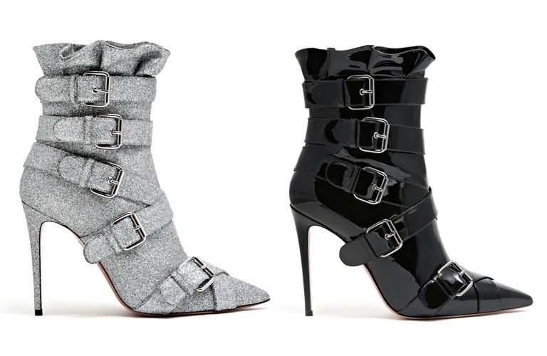 Коллекция обуви Aquazzura и Клаудии Шиффер - ботильоны с ремешками