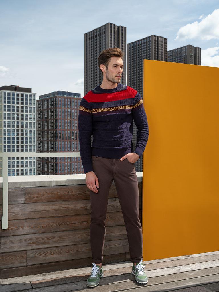 Коллекция BAON осень-зима 2018-2019 - мужской джемпер и узкие брюки