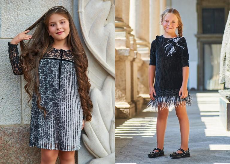 «Магия света» - детская коллекция для девочек Choupette осень-зима 2018-2019 - платья