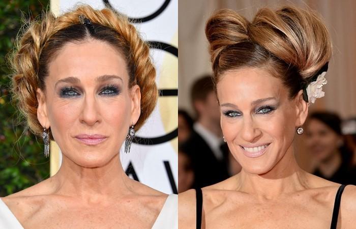 Причёски Сары Джессики Паркер: объемные пучки и косы