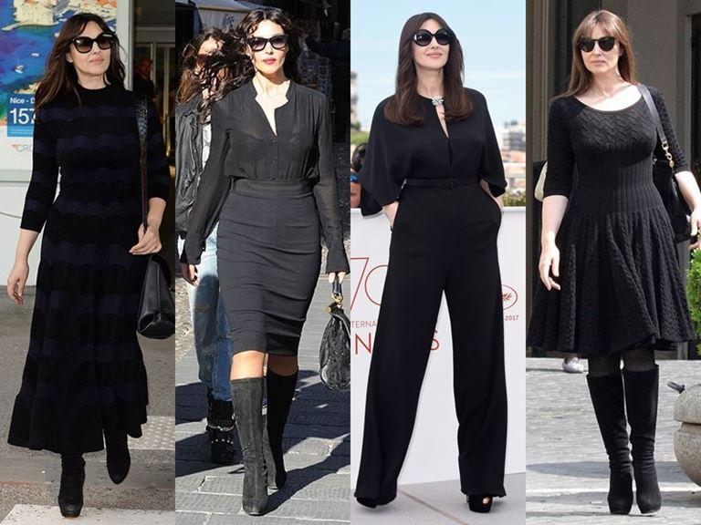 Итальянский стиль Моники Беллуччи - Обилие чёрного цвета