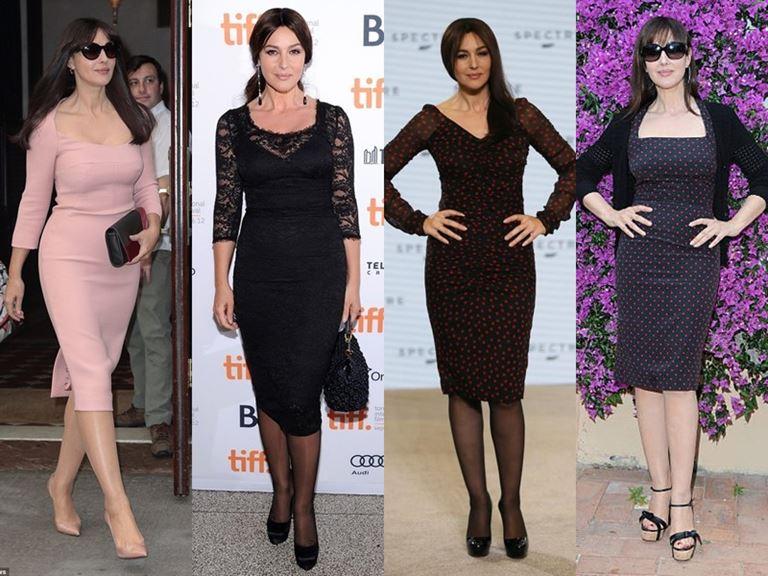 Итальянский стиль Моники Беллуччи: Платья до или ниже колена