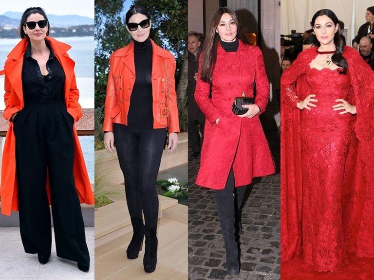 Итальянский стиль Моники Беллуччи - Красный цвет как акцент и как основа