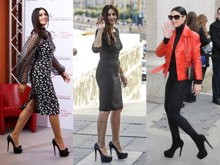 Итальянский стиль Моники Беллуччи: обувь на шпильке или платформе
