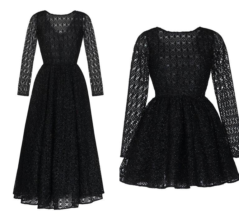 Коллекция Yulia Prokhorova Beloe Zoloto осень-зима 2018-2019 - черное платье из кружева