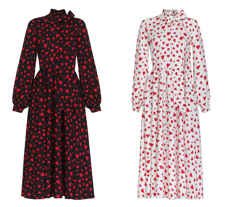 Коллекция Yulia Prokhorova Beloe Zoloto осень-зима 2018-2019 - платья с сердечками