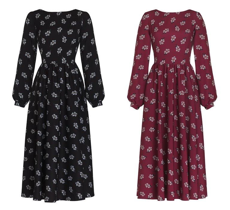 Коллекция Yulia Prokhorova Beloe Zoloto осень-зима 2018-2019 - платья с цветочным принтом