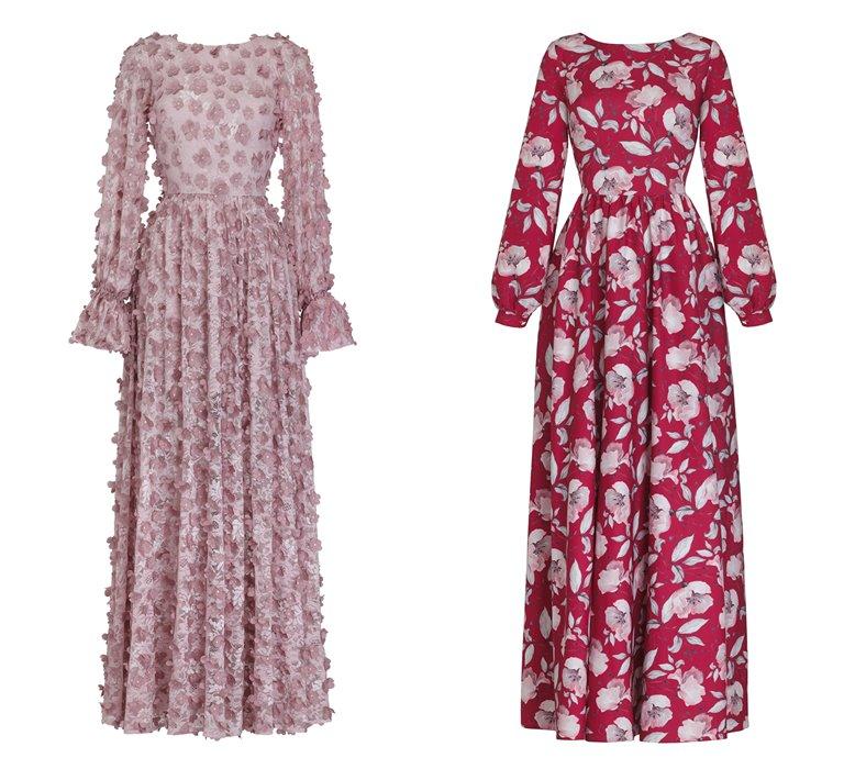 Коллекция Yulia Prokhorova Beloe Zoloto осень-зима 2018-2019 - платья в цветочек