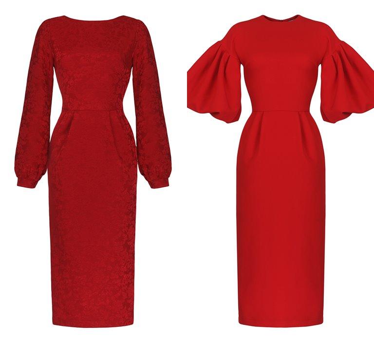 Коллекция Yulia Prokhorova Beloe Zoloto осень-зима 2018-2019 - красные платья