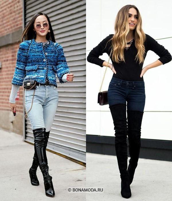 Как можно и нельзя носить ботфорты - Облегающий низ без верхней одежды