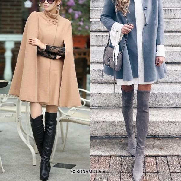 Как можно и нельзя носить ботфорты - Элегантные пальто и плащи