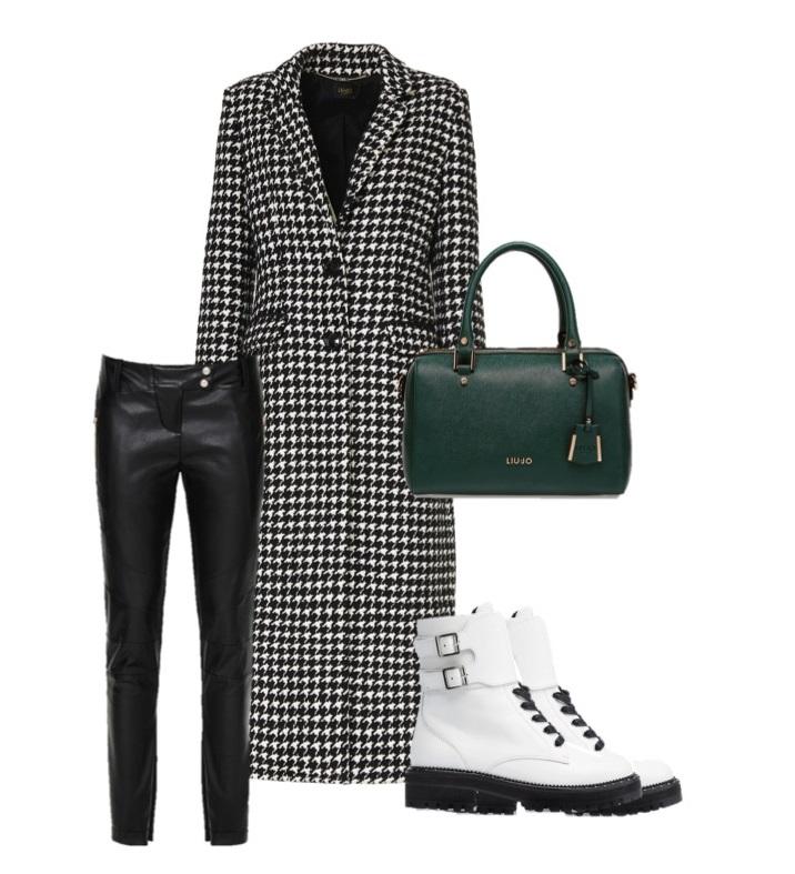Модные образы от Liu Jo на осень-2018 - пальто и кожаные брюки