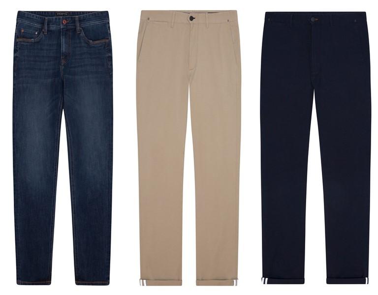 Джинсы и брюки чинос Springfield Zero Gravity, 100% Fit - фото 8