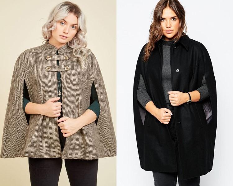 Пальто для толстушек скрывающие полноту и делающие стройнее - пальто-кейп