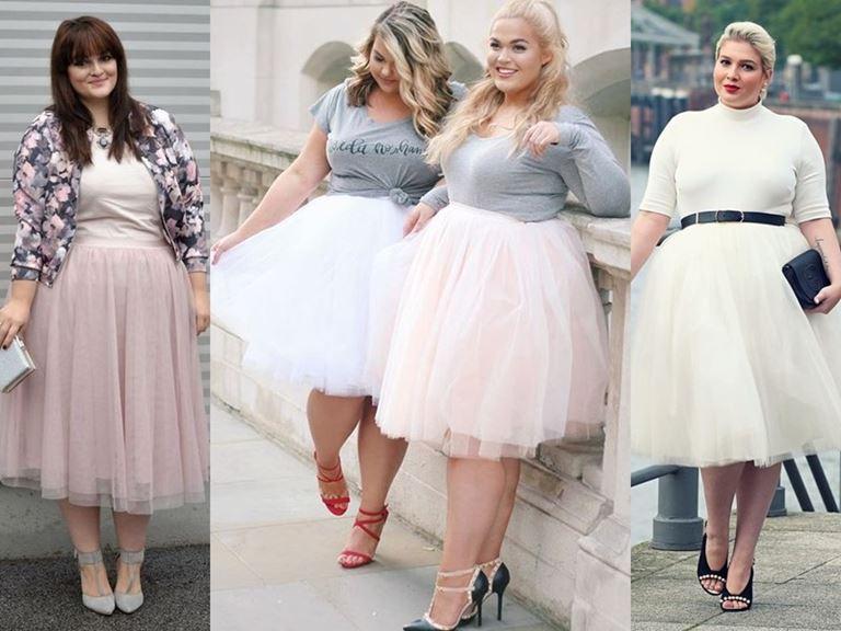 Юбки, которые полным женщинам носить нельзя - Пышные юбки-пачки из фатина