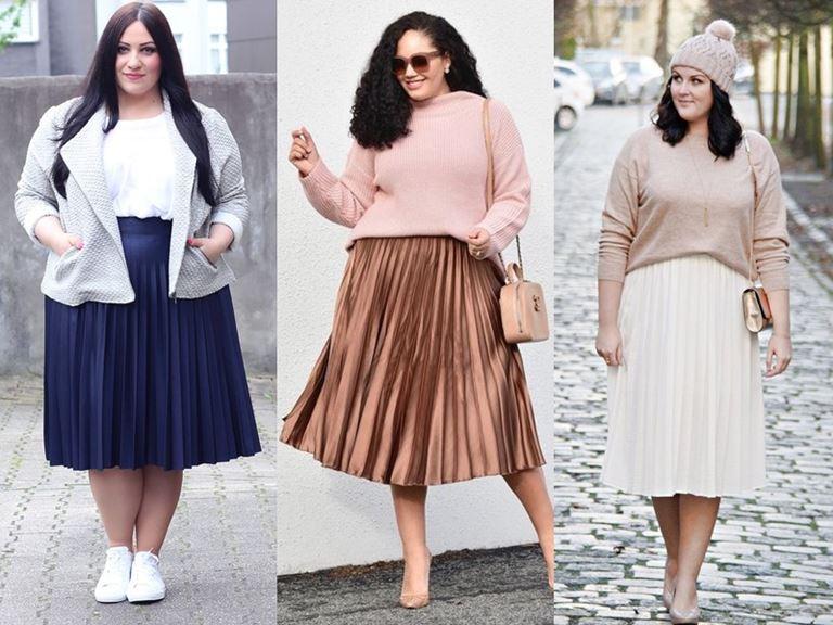 Юбки, которые полным женщинам носить нельзя - Юбки с мелкой плиссировкой