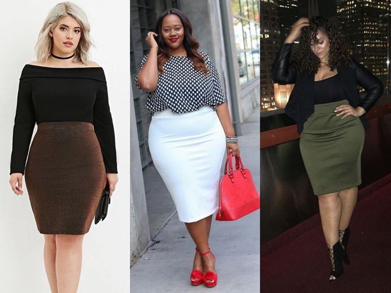 Юбки, которые полным женщинам носить нельзя - Прямые облегающие юбки-карандаш