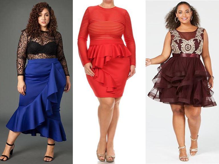 Юбки, которые полным женщинам носить нельзя - Пышные юбки с ярусами и крупными воланами