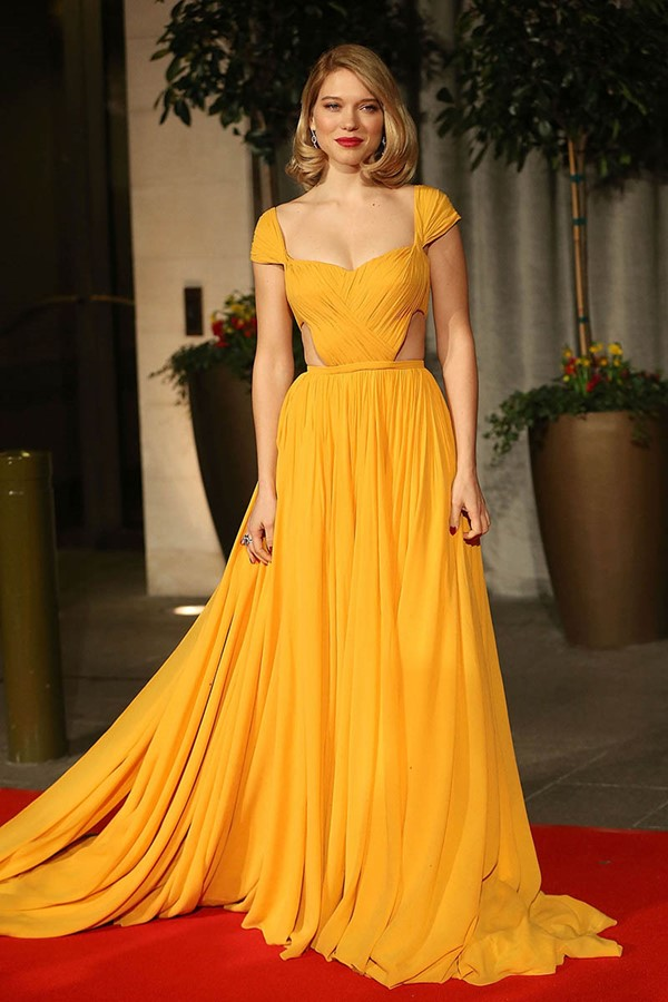 Жёлтые вечерние платья - Леа Сейду