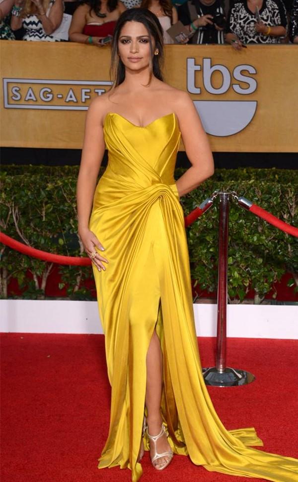 Жёлтые вечерние платья - Камилла Альвес