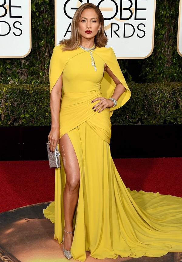 Жёлтые вечерние платья - Дженнифер Лопес