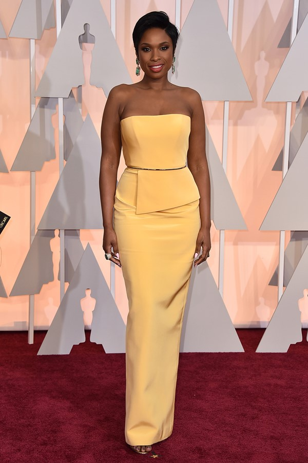 Жёлтые вечерние платья - Дженнифер Хадсон