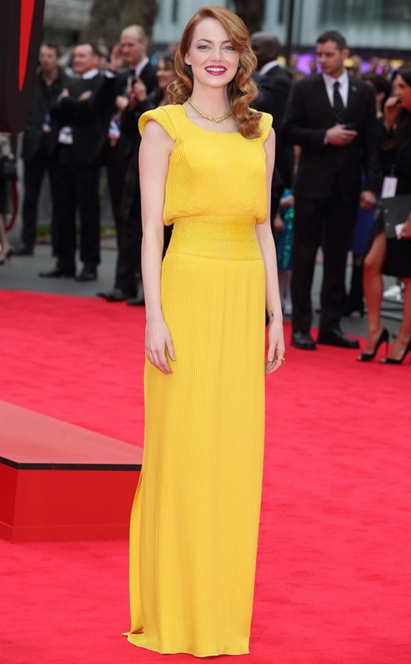 Жёлтые вечерние платья - Эмма Стоун