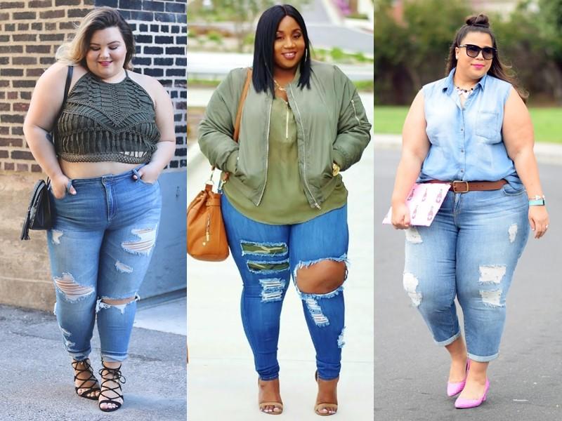 Джинсы для полных: стоит ли обтягиваться? - рваные джинсы слим