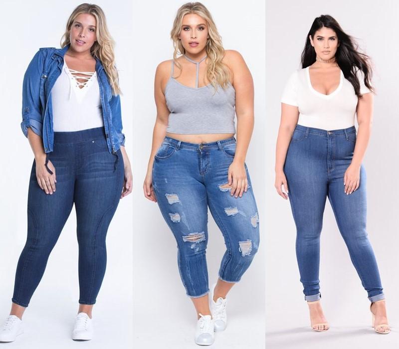 Джинсы для полных: стоит ли обтягиваться? - укороченные джинсы слим