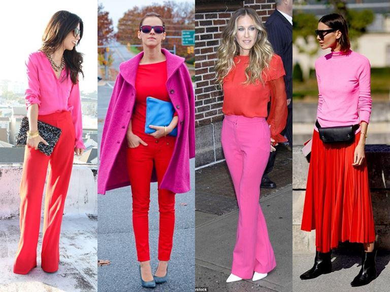 5 небанальных сочетаний с красным цветом -