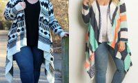 Кардиган для полных: как носить, чтобы не сделать себя ещё больше?