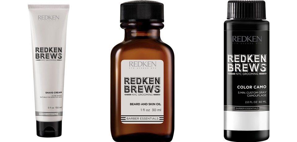 Мужские средства Redken Brews для бритья и окрашивания седины