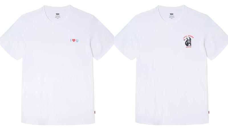 Акция от Levi`s® ко Дню влюблённых - белые футболки