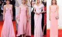 Пастельно-розовые вечерние платья: 15 звёздных нарядов